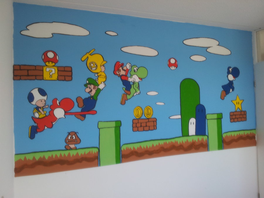 How To Paint Mario On Canvas